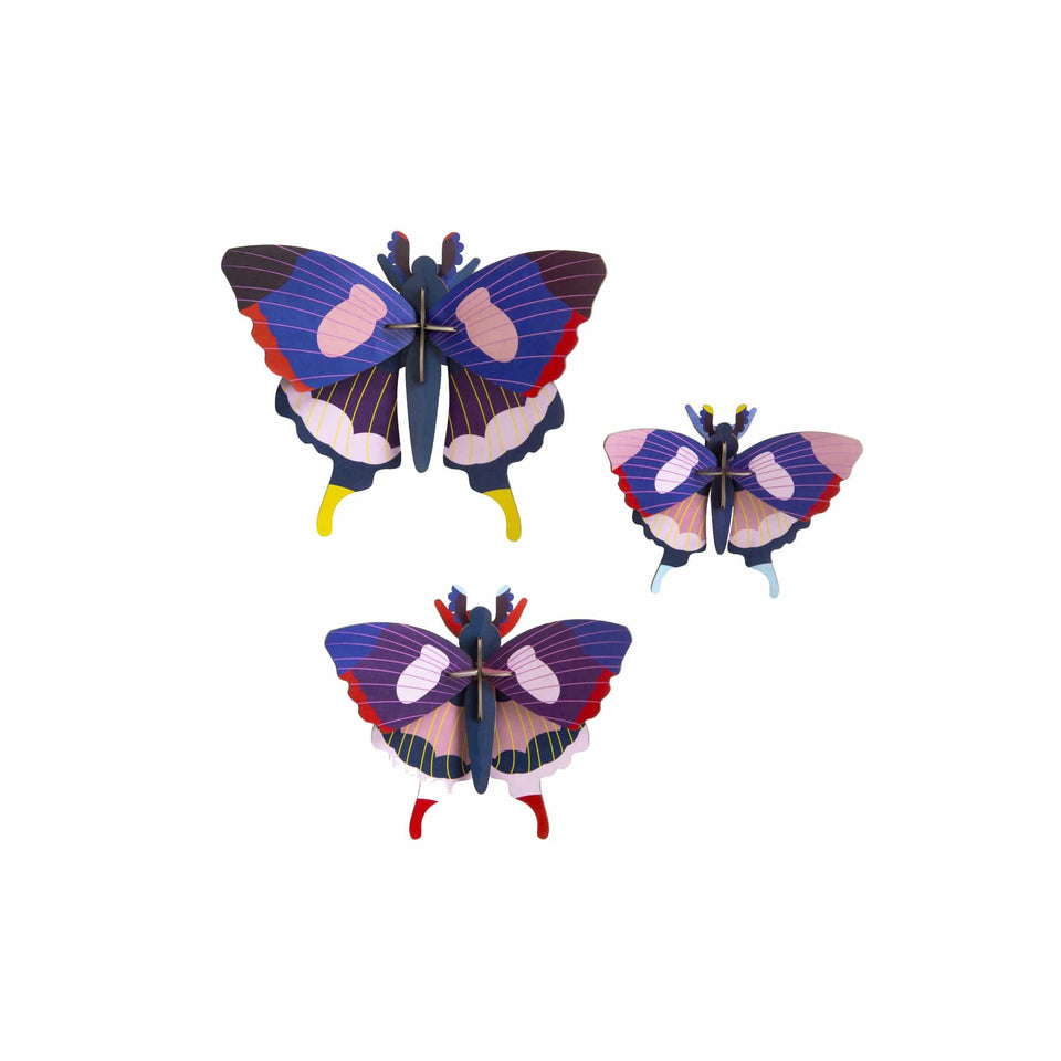 Studio Roof Decorazione parete Butterfly set