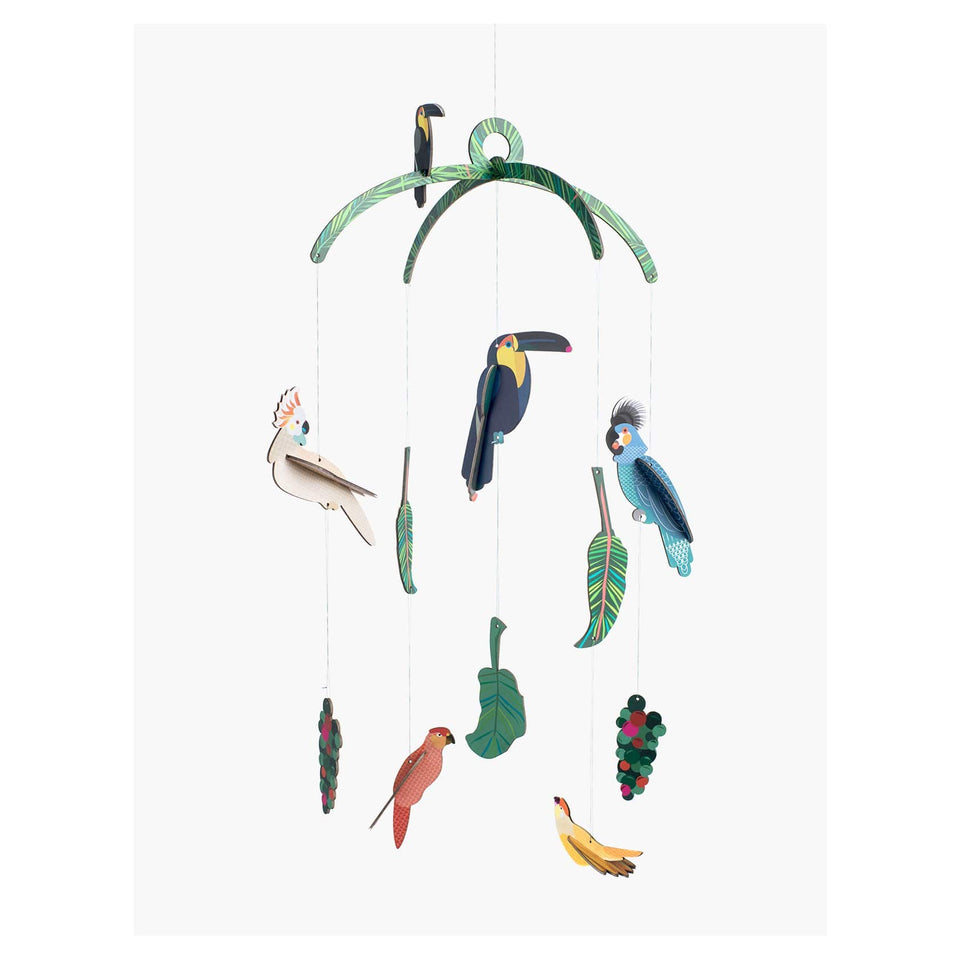 Studio Roof Decorazione parete Mobile Exotic Birds