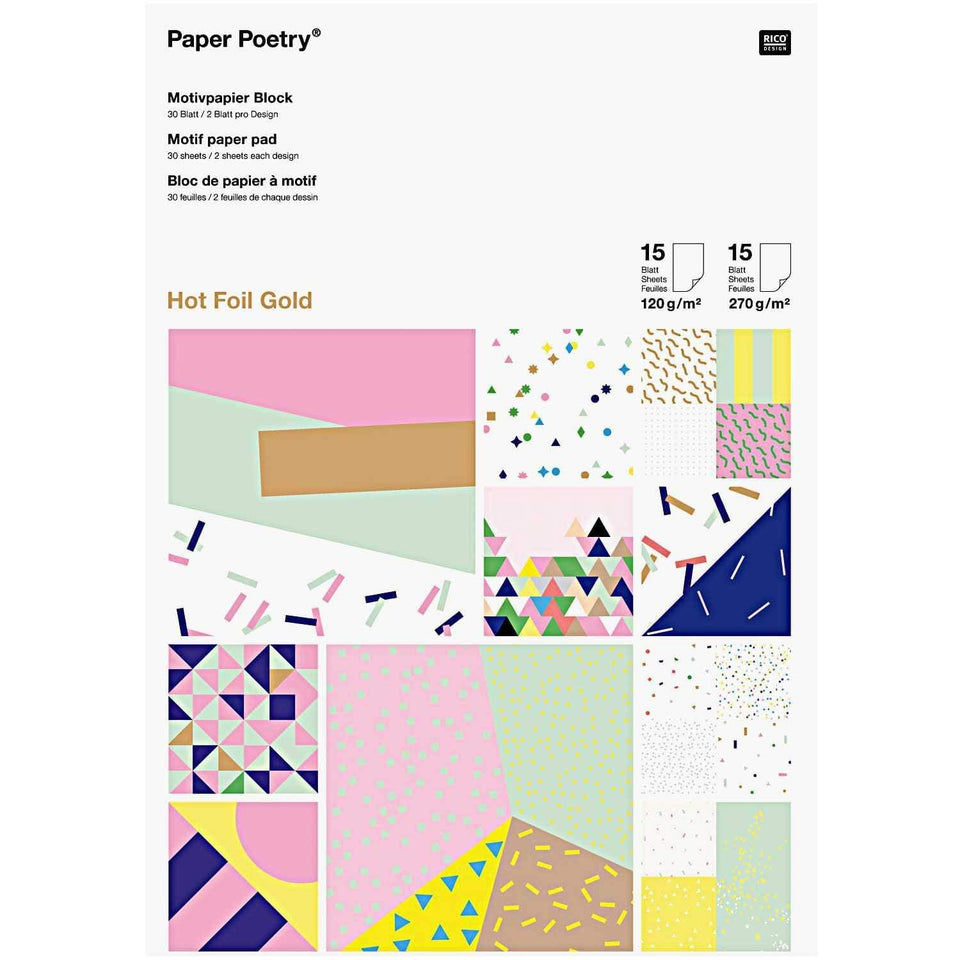 Rico Design DIY Paper Lovers Pad Confetti