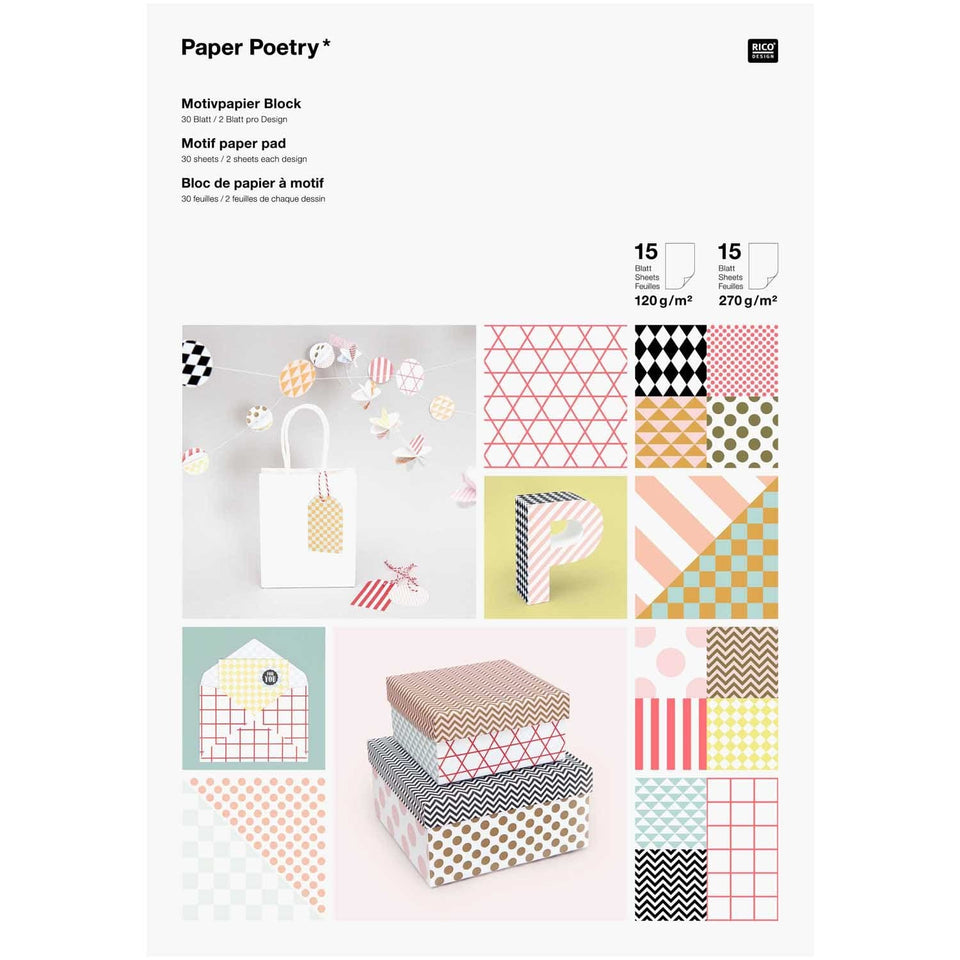 Rico Design DIY Paper Lovers Pad Graphic