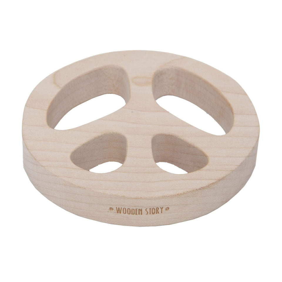 Wooden Story Giochi in legno Teether - massaggiagengive Peace