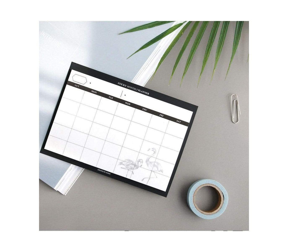 Iconic Planner Sticky notes monthly planner