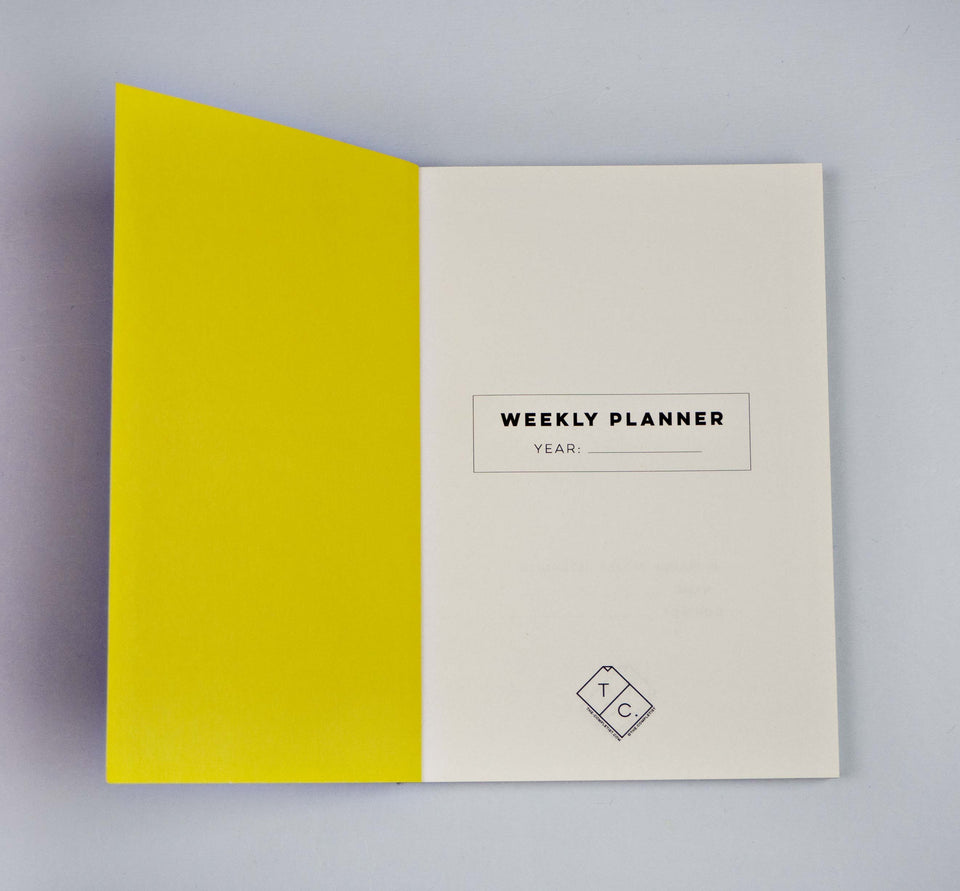 The Completist Planner Weekly Planner Cut Out Pocket