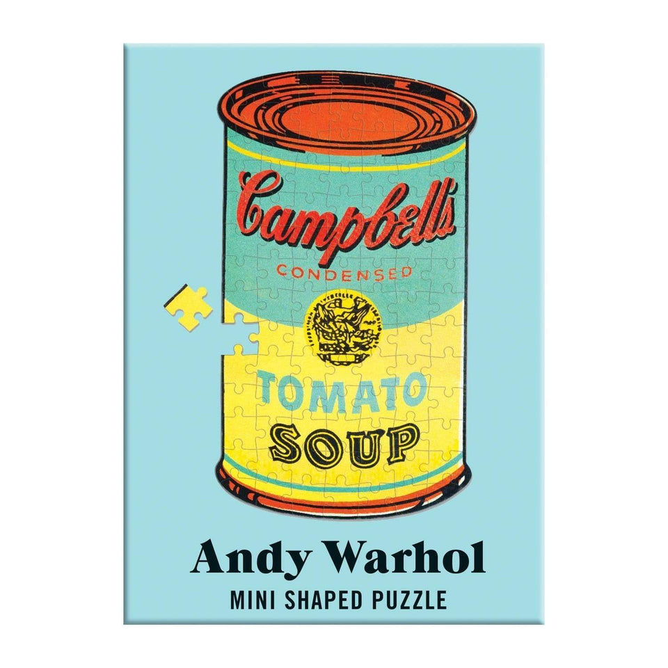 Galison Puzzle Mini puzzle sagomato Andy Warhol - Campbell's Soup