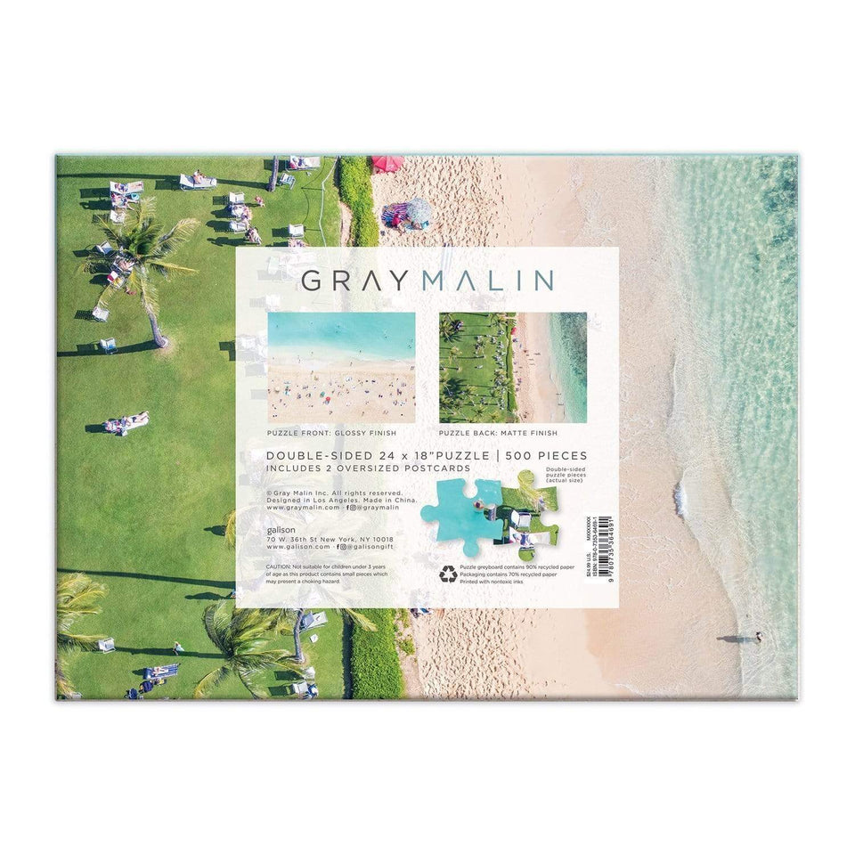 Galison Puzzle Puzzle Double Side Hawaii Beach