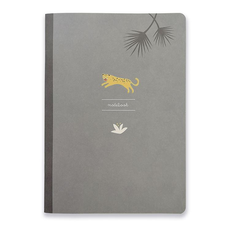Pleased to meet Quaderni Quaderno A5 Leopard - Little wild friends