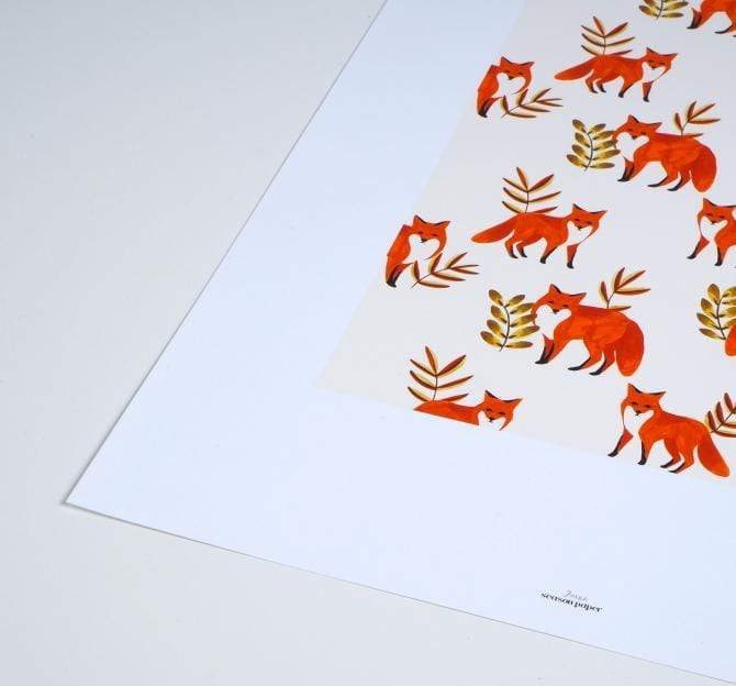 Season Paper Stampa Stampa Foxes A4