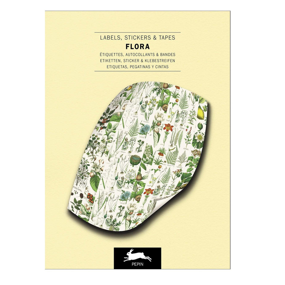 Pepin Press Stickers Stickers Book - Flora