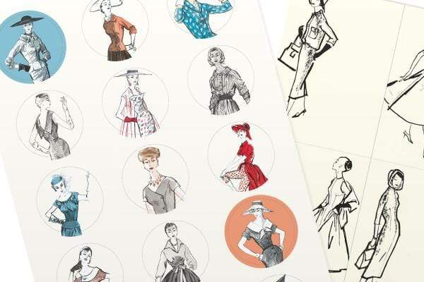 Pepin Press Stickers Stickers Book - Vintage Fashion