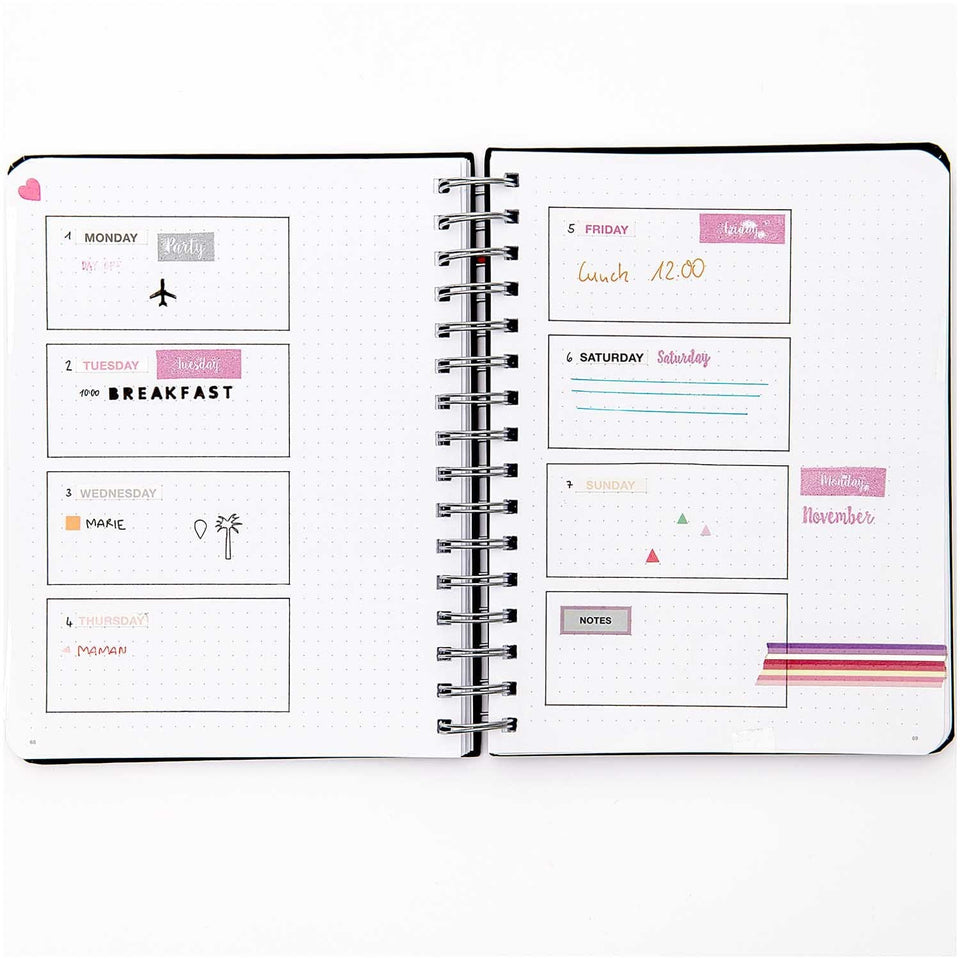 Rico Design Stickers Stickers Cerchio per Bullet Journal