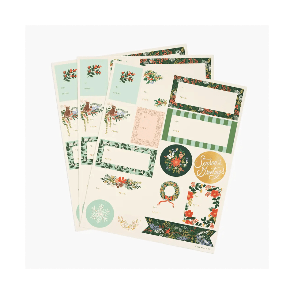 Rifle Paper Stickers Stickers Set Winter Floral Rifle Paper