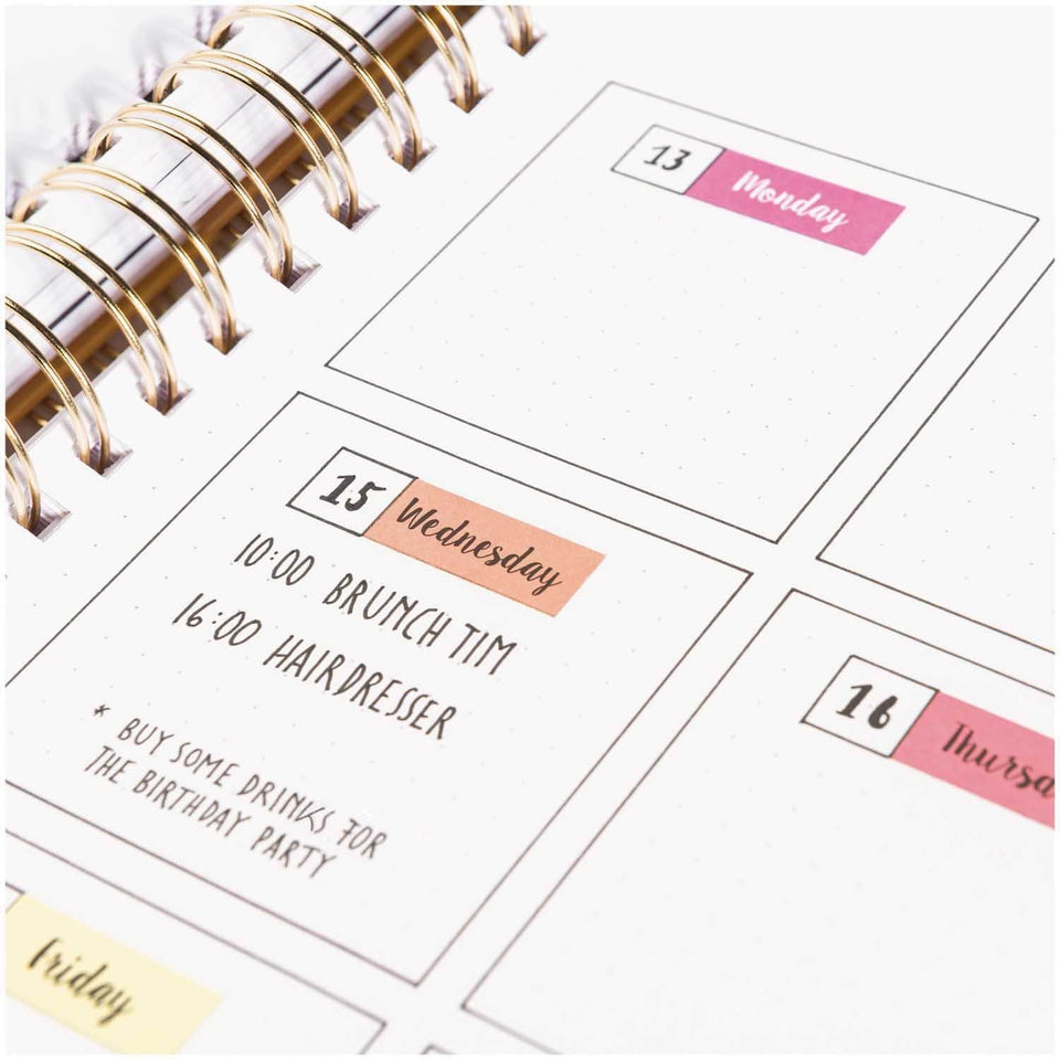 Rico Design Stickers Stickers Weekdays Pink per Bullet Journal