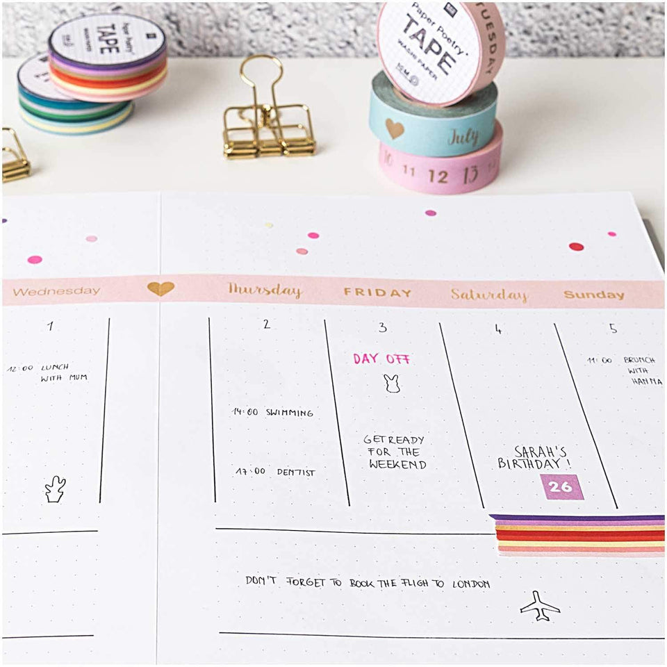 Rico Design Washi Tape Washi tape Righe Pink