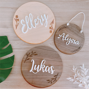 Engraved Botanical Name Sign