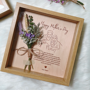 Engraved Portrait & Blooms Keepsake Case