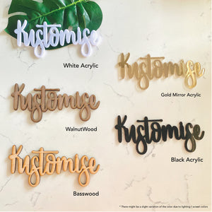Individual Letter Name Signage