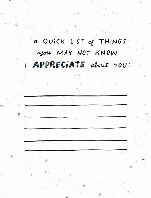 Quick List Handwritten Card
