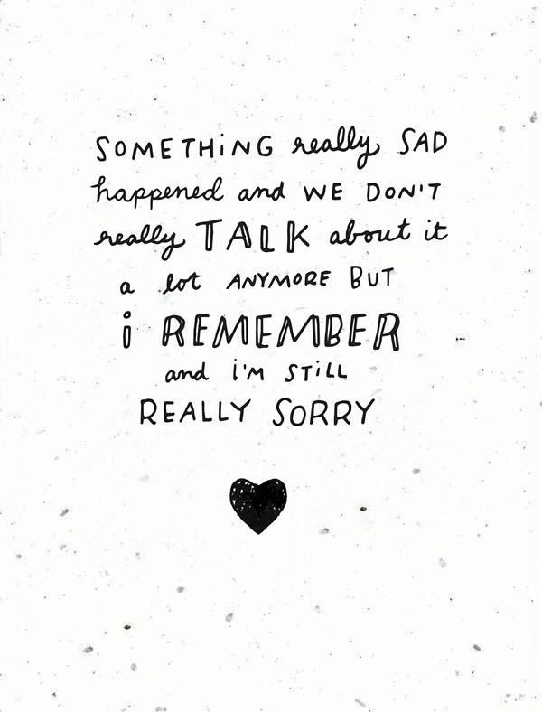 Something Really Sad Happened Handwritten Card