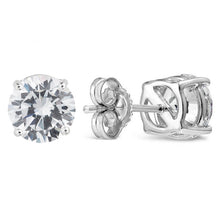 Load image into Gallery viewer, Sterling Silver Cubic Zirconia Stud Earrings