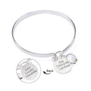 NEW!! Love Loyalty Friendship Silver Bangle