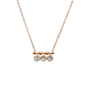 Rose Gold and Crystal Necklace