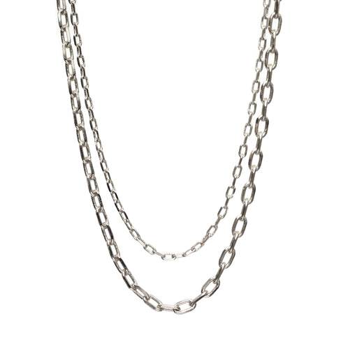 Double Layered Silver Chain