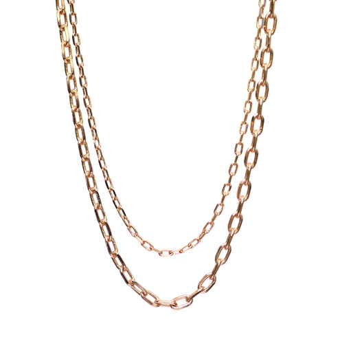 Double Layered Rose Gold Chain