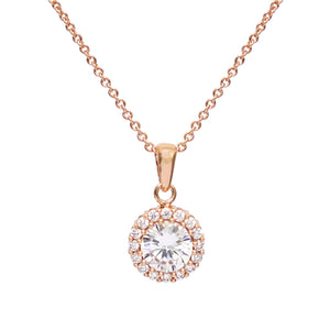 NEW!! Rose Gold Diamante Necklace