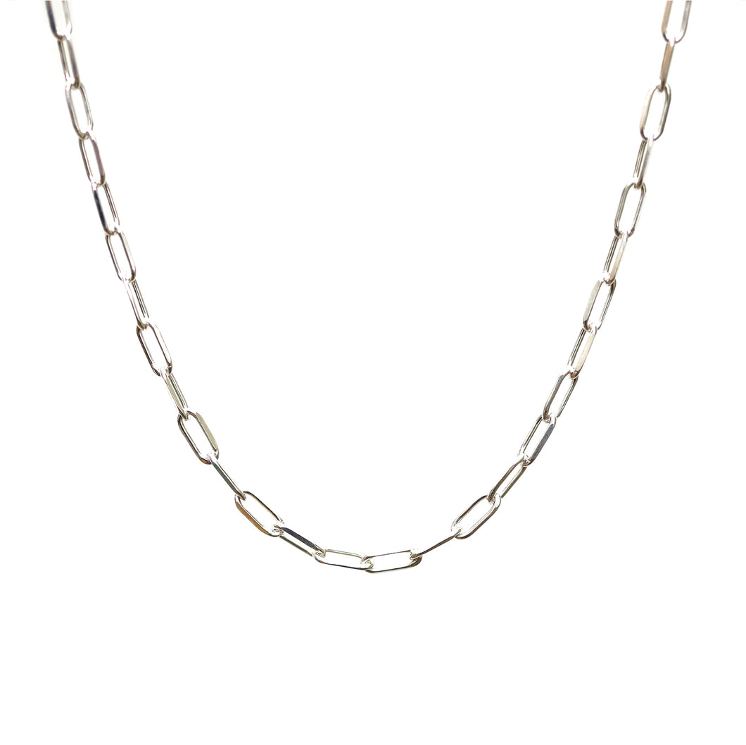 Sterling Silver Long Link Chain Necklace