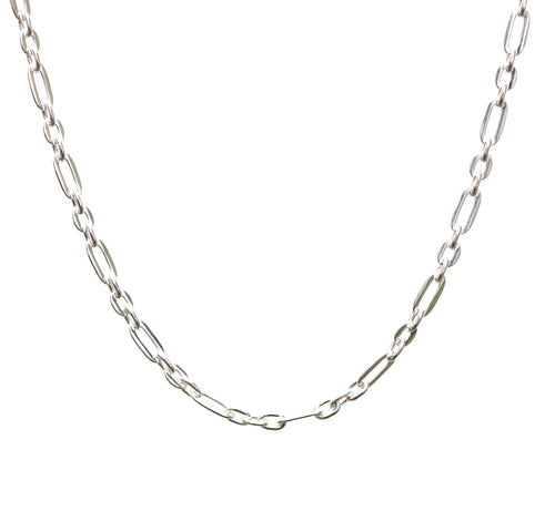 Sterling Silver Long & Short Link Chain Necklace