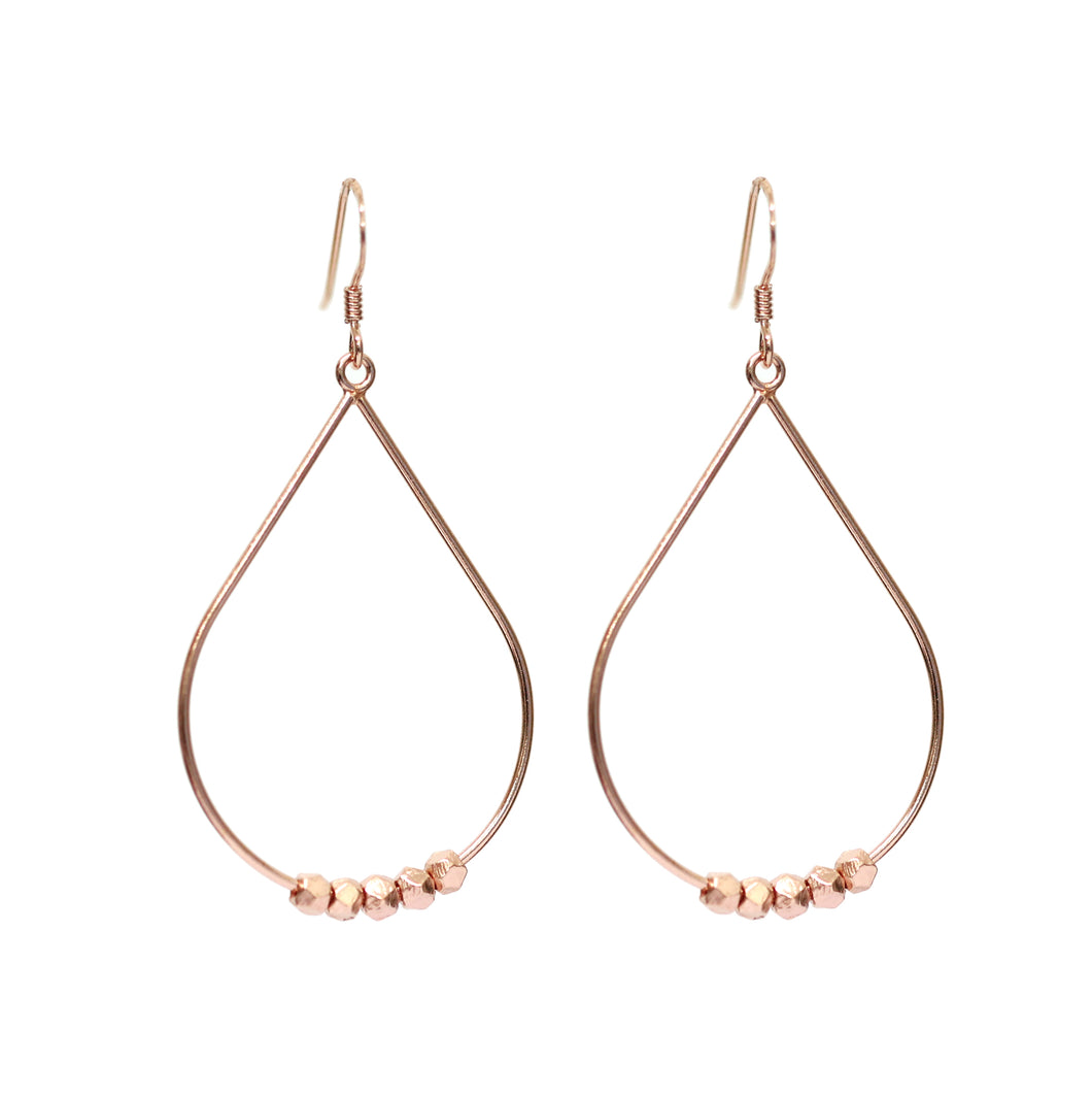 NEW!! Rose Gold Pebble Drop Earrings