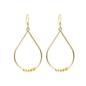 NEW!! Gold Pebble Drop Earrings