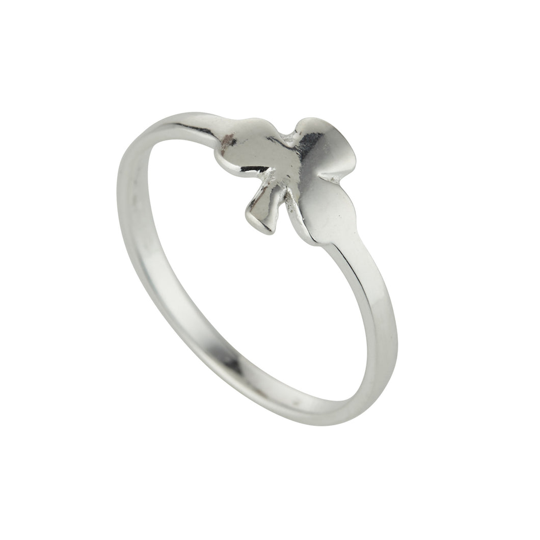 Sterling Silver Celtic Shamrock Ring