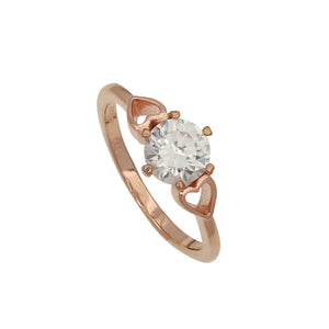 NEW!! Rose Gold Love Crystal Diamond Ring