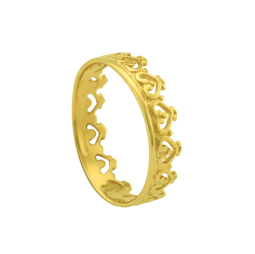 Gold Vermeil Crown Ring