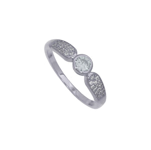 NEW!! Silver Crystal Diamond Ring