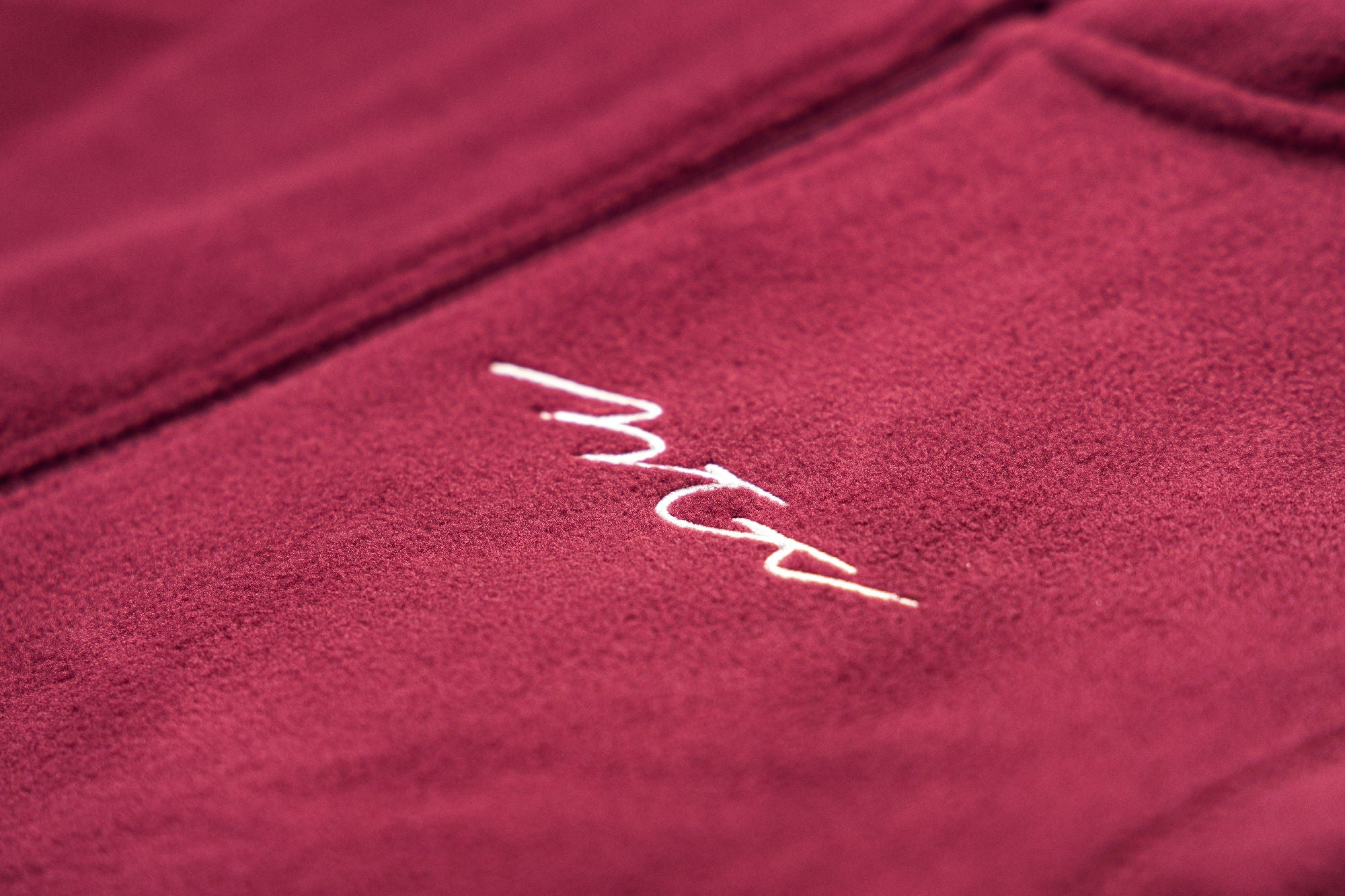 Logo Fleece Burgundy