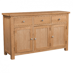 Dorset Oak Sideboard with 3 Doors