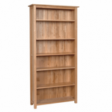 New Oak 6ft Bookcase