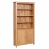 New Oak Bookcase with Cupboard