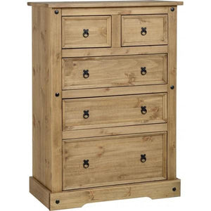 Corona 2 over 3 Drawer Chest