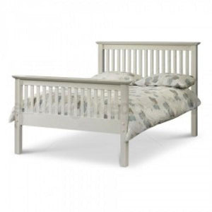 Barcelona High Foot End Bed Frame (White)