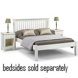 Barcelona Stone White Low Foot End Bed Frame
