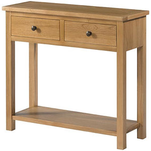 Burford Oak Console Table With 2 Drawers