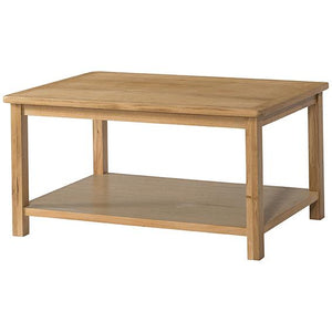 Burford Oak Coffee Table With Shelf