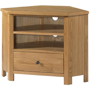 Burford Oak Corner TV Unit