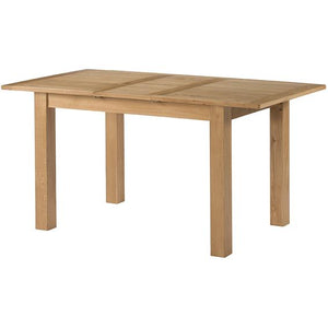 Burford Oak Extending Dining Table 80 x 120-155