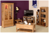 New Oak 6ft Narrow Bookcase