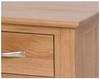 New Oak Bedside with 3 Drawers