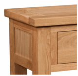 Dorset Oak Console Table with 1 Drawer